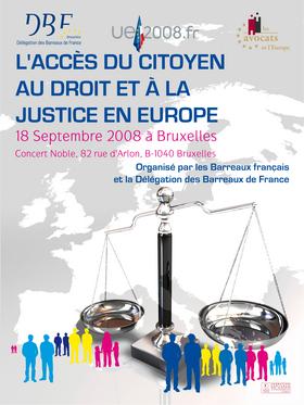 Colloque à Bruxelles le 18 septembre : L'accès du citoyen au droit et à la justice en Europe.