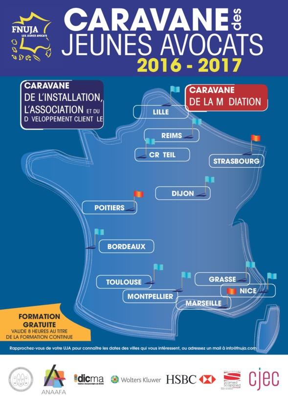 Caravane des Jeunes Avocats 2016-2017