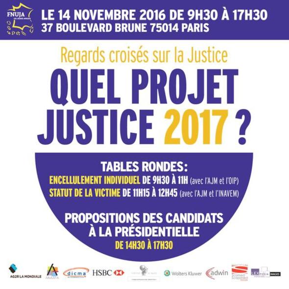 REGARDS CROISES SUR LA JUSTICE - 14 NOVEMBRE 2016