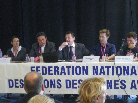 Visite 'suprise' de Jean-Michel Darrois à la FNUJA