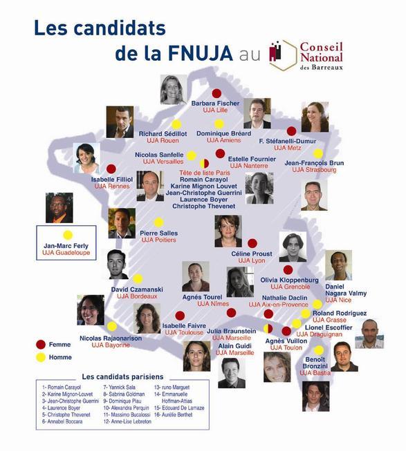 Demain 9 décembre 2008, votez pour les candidats de la FNUJA