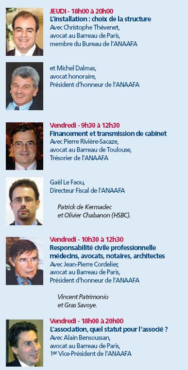 Les formations validantes de L'ANAAFA lors du Congrès de la FNUJA autour de la Corse