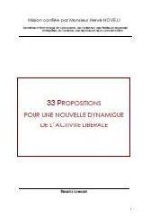 """Rapport LONGUET : """"33 propositions pour une nouvelle dynamique de l'activité libérale"""""""