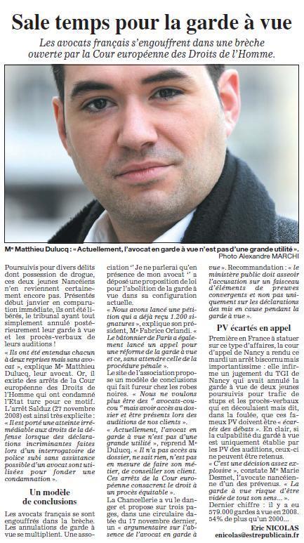 Bravo à Matthieu DULUCQ, Président de l'UJA de NANCY