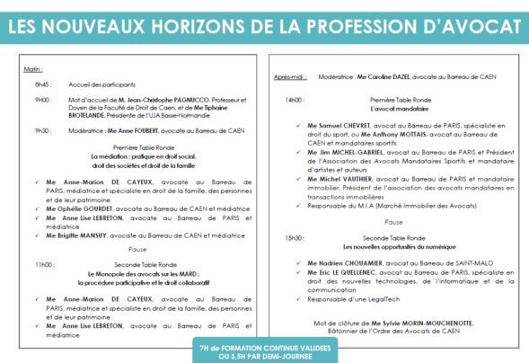 Comité decentralisé à Caen du 16 au 18 mars 2018