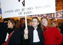 Manifestation sur le projet de loi Perben II