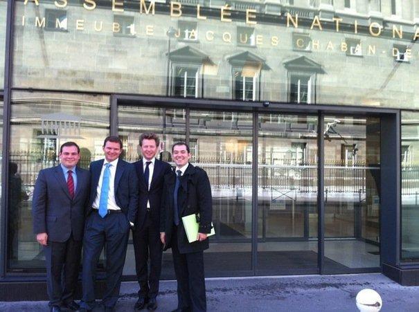 Yannick SALA, Vice-président Paris, Stéphane DHONTE, 1er Vice-Président, Romain CARAYOL, Président, et Matthieu DULUCQ, Secrétaire Général Adjoint