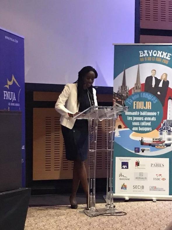 Discours d'Aminata NIAKATE, Nouvelle Présidente de la FNUJA