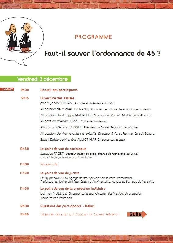 Assises des Avocats d'Enfants - Les 3 et 4 Décembre 2010 à BORDEAUX