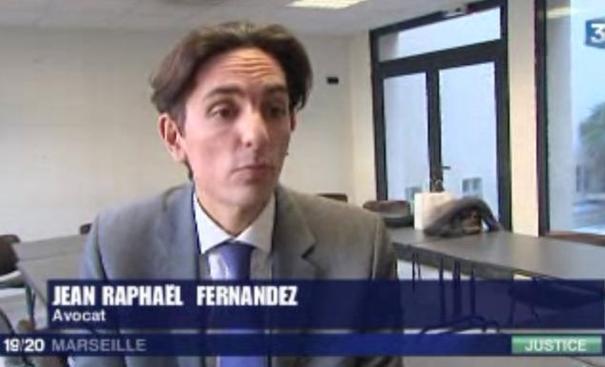 Pour voir la vidéo, cliquez sur l'image  (La mobilisation des Avocats : 1'42 ; interview de JR FERNANDEZ, Président de l'UJA de MARSEILLE : 2'07)