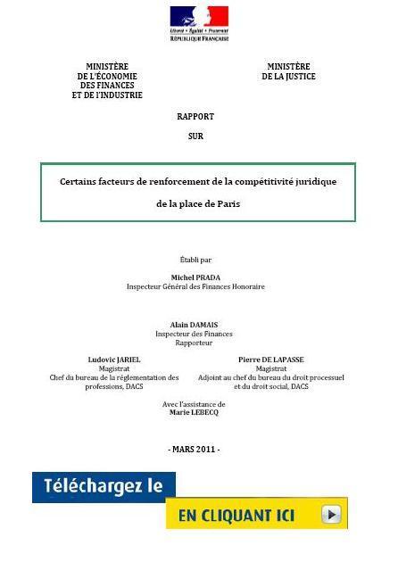 Rapport PRADA sur le renforcement de la compétitivité de la place de Paris - Découvrez le ci-après :