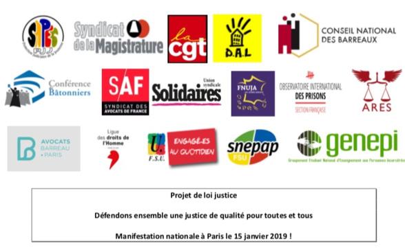 PLJ Justice - Manifestation à Paris le 15 janvier 2019 !