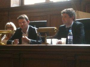 Stéphane DHONTE, Président de la FNUJA et Paul HUBER, Président sortant de l'AJM