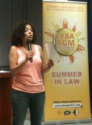 Amina OMAR NIETO, Nouvelle Présidente de l'EYBA