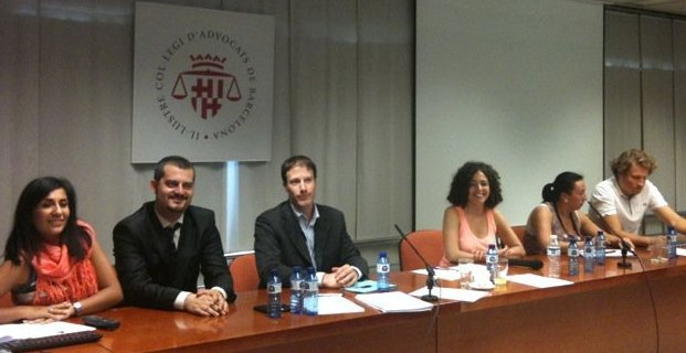 Le Nouveau Bureau de l'EYBA, avec au centre, Olivier Quesneau, Président de l'UJA d'Aix en Provence, élu Secrétaire Général de l'EYBA, et Amina OMAR NIETO, Présidente de l'EYBA