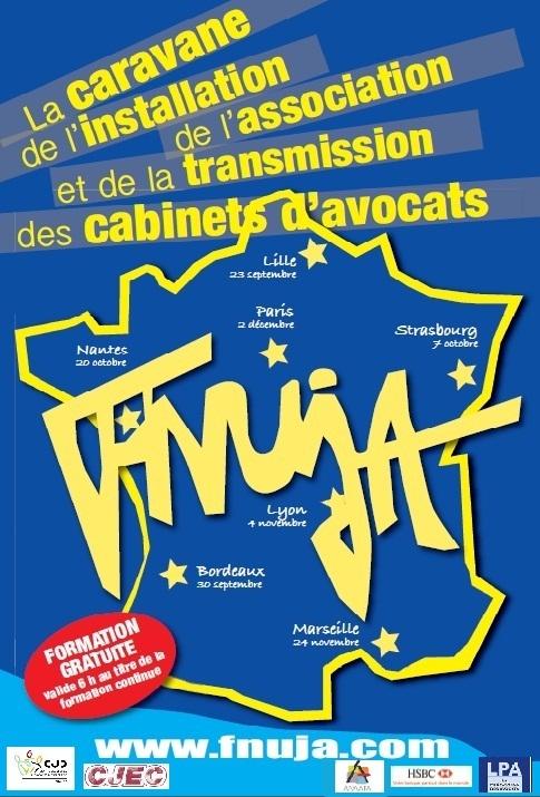 CARAVANE DE L'INSTALLATION, DE L'ASSOCIATION et de la TRANSMISSION DE CABINET D'AVOCATS