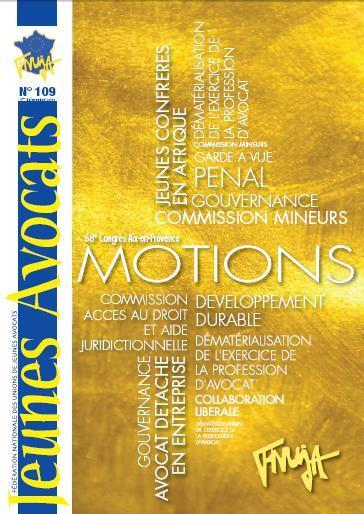 Le Jeunes Avocats Magazine n°109 est disponible