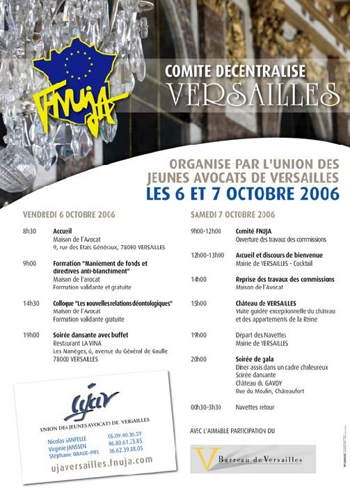 Comité National Décentralisé de la FNUJA les 6 & 7 octobre 2006 à Versailles