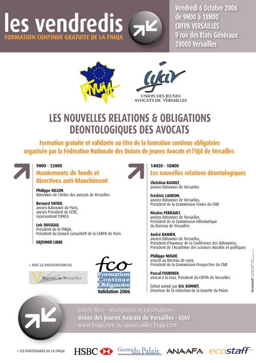 LES VENDREDIS DE LA FNUJA : LES NOUVELLES RELATIONS & OBLIGATIONS DEONTOLOGIQUES DES AVOCATS