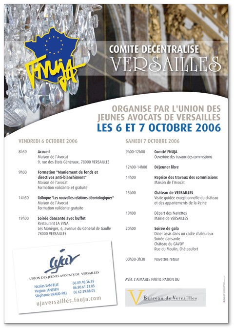 Comité National les 6 et 7 octobre 2006 à Versailles