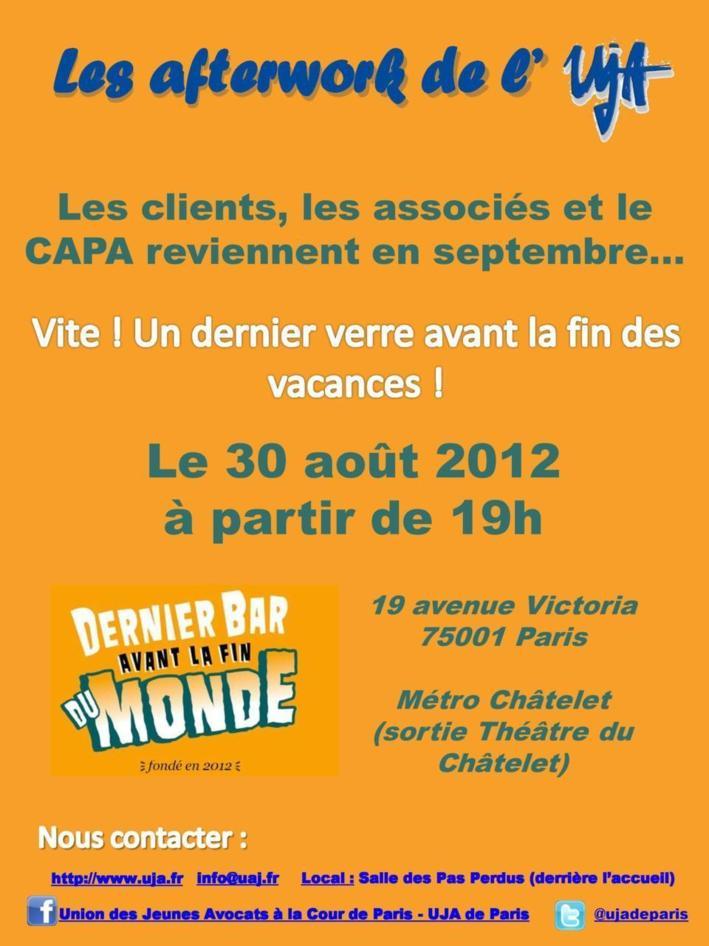 UJA de PARIS - 30 août 2012 - Afterwork de fin d'été