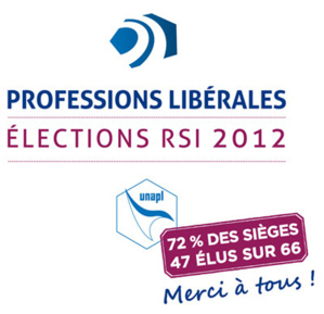 Elections des administrateurs des caisses RSI : victoire écrasante de la liste Professions libérales 2012 - UNAPL soutenue par la FNUJA !