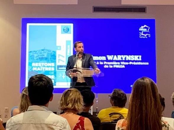 Discours de Simon Warynski - nouveau Premier Vice-président de la FNUJA