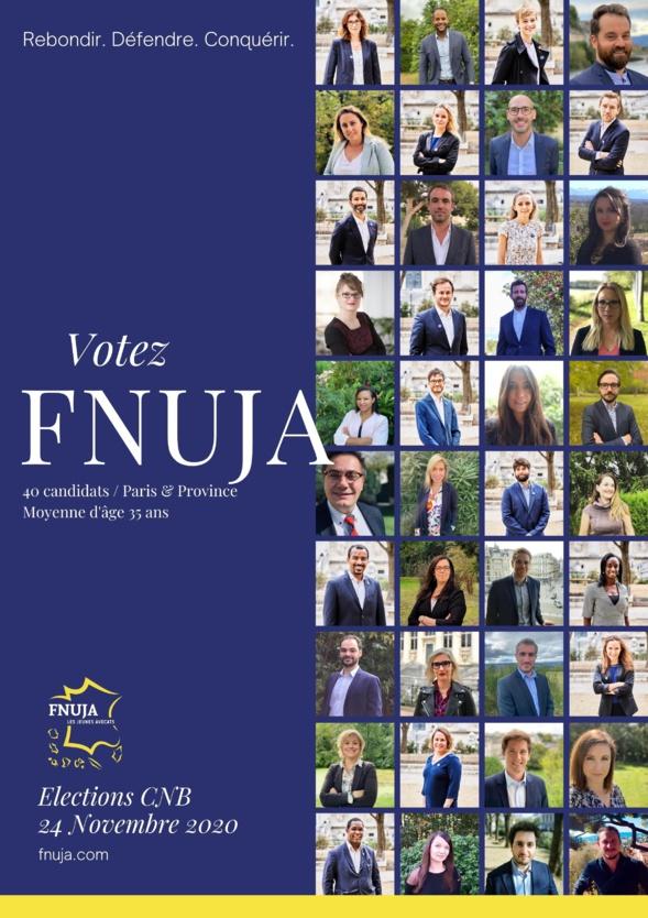 Présentation des candidats FNUJA collèges Province et Paris - Elections CNB 2020