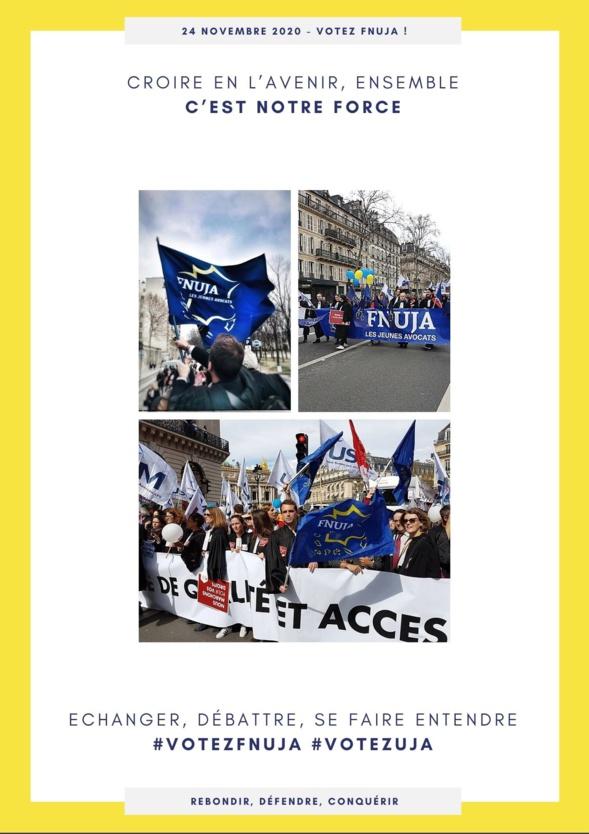 Elections CNB : Profession de foi de la FNUJA