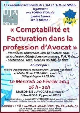 NIMES - Formation : Comptabilité et facturation dans la profession d'Avocat