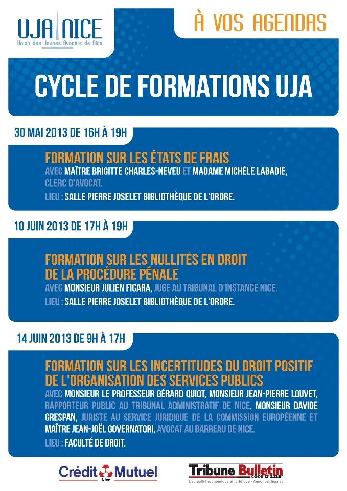 NICE - Cycle de Formations UJA