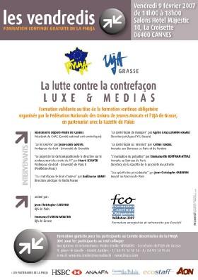 LES VENDREDIS - PROGRAMME DE FORMATION DE LA FNUJA