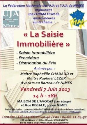 NIMES : Formation : La Saisie Immobilière