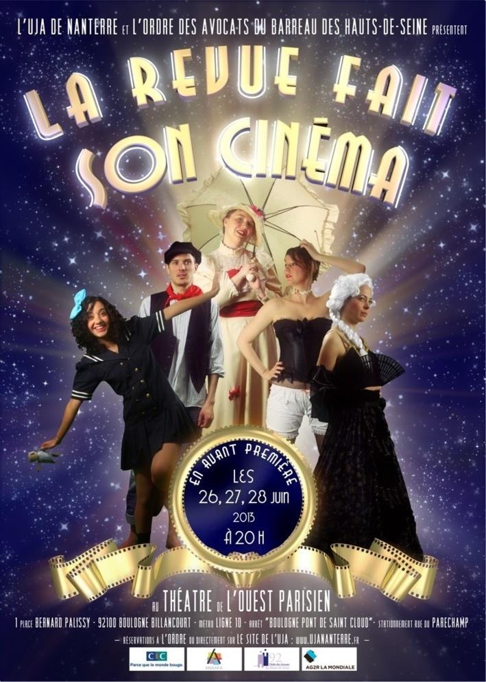 """NANTERRE : """"La Revue fait son cinéma"""""""