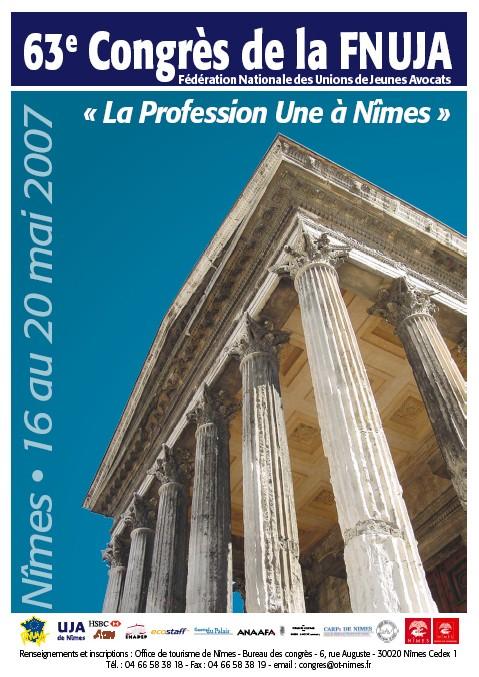RENDEZ-VOUS AU CONGRES DE LA FNUJA, A NIMES DU 16 AU 20 MAI 2007