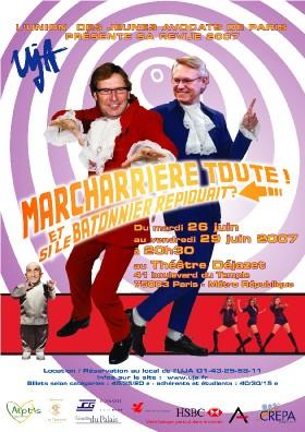 La Revue de PARIS du mardi 26 au vendredi 29 juin 2007, à 20h30.