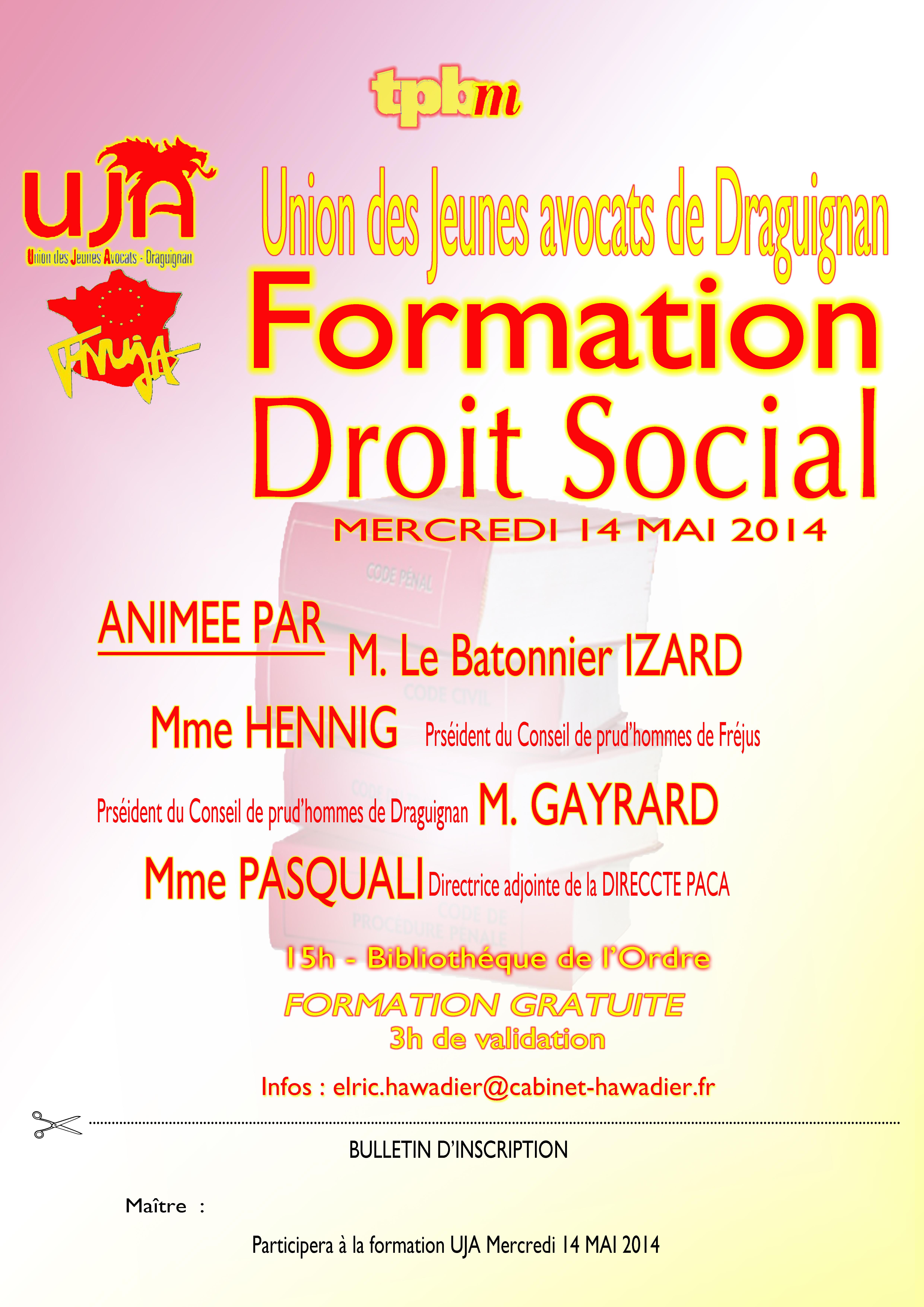 DRAGUIGNAN - Formation : Droit Social