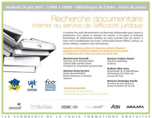 Formation gratuite le 29 juin à Paris : RECHERCHE DOCUMENTAIRE