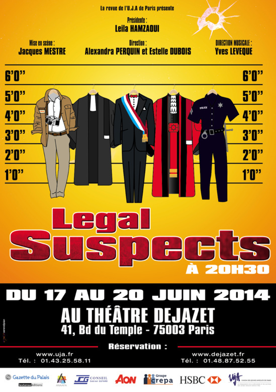 PARIS - Revue : LEGAL SUSPECT
