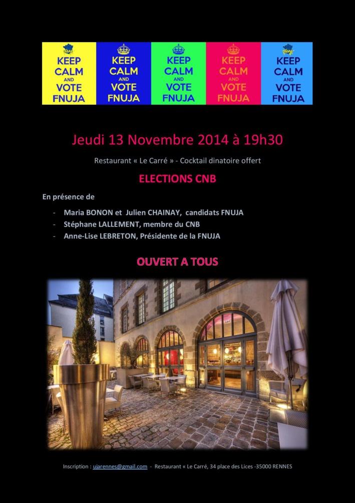 RENNES - Elections CNB - Présentation des candidats FNUJA