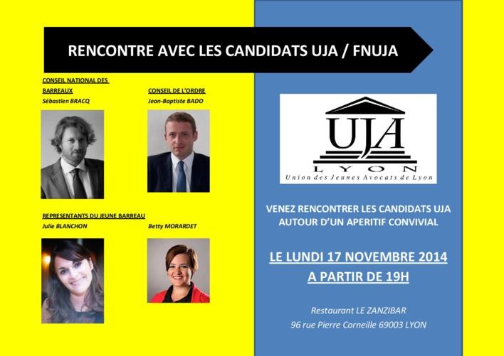 LYON - Elections CO CNB RJB - Présentation des candidats UJA / FNUJA