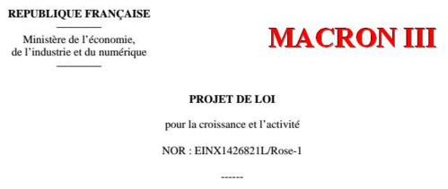 MACRON III - Le Texte du 3e projet
