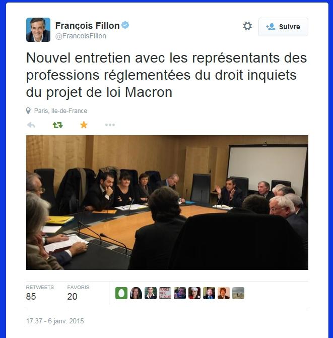 Audition de la FNUJA par les députés FILLON et Houillon