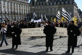Retour sur la manifestation de Rennes contre la réforme de la carte judiciaire