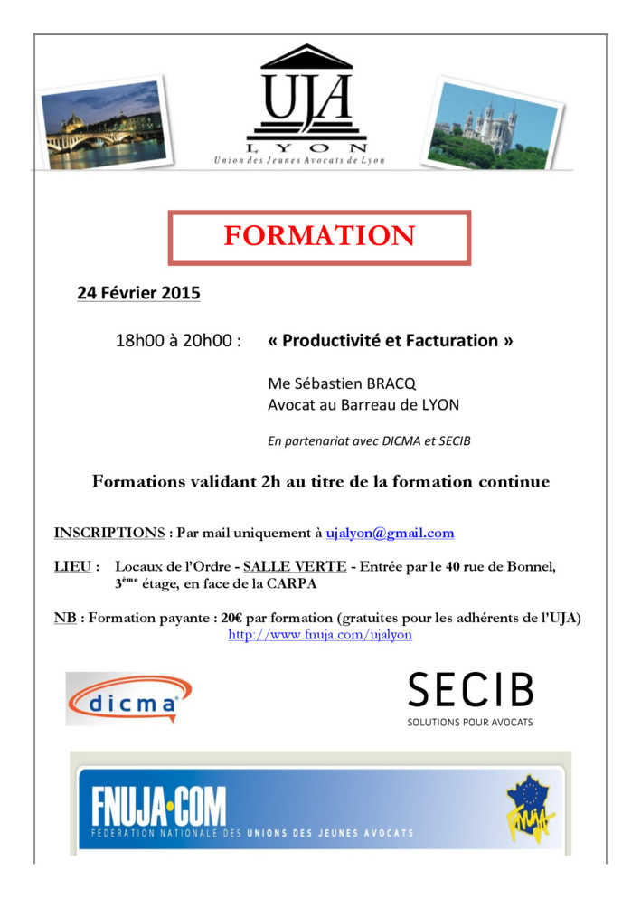 LYON - Formation: Productivité et Facturation