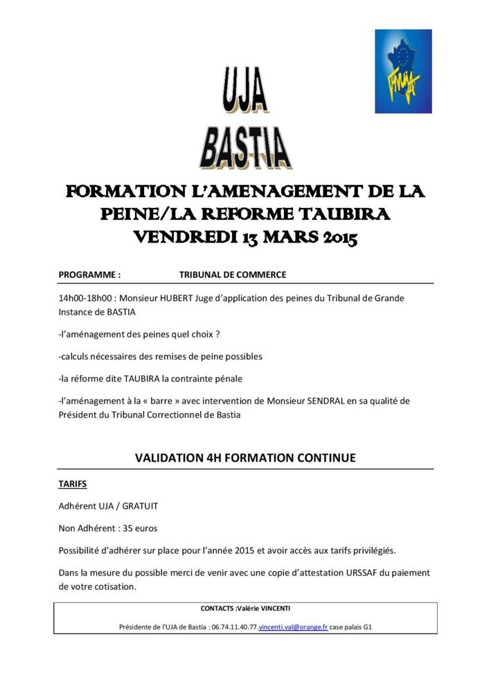 BASTIA - Formation: L'aménagement de la peine
