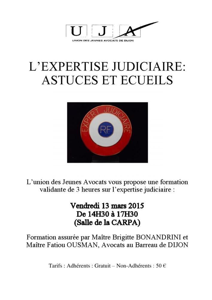 DIJON - Formation : l'expertise judiciaire, astuces et éceuils