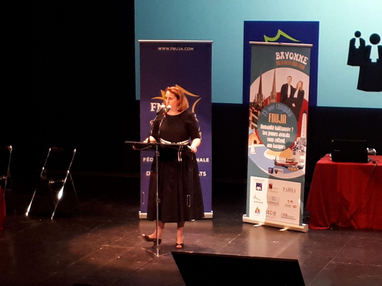 Discours d'Alexandra Boisramé - Séance solennelle d'ouverture du 75ème congrès de la FNUJA à Bayonne