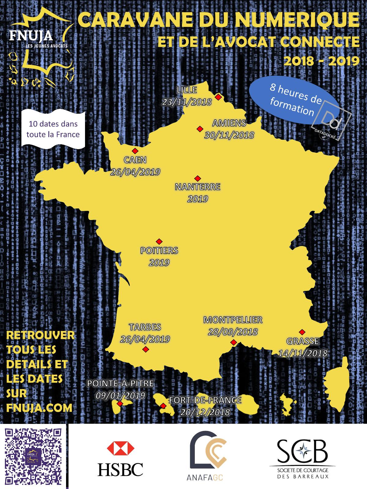 La Caravane du Numérique et de l'Avocat Connecté - Edition 2018 - 2019