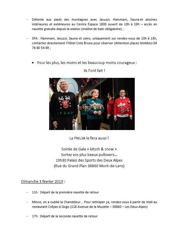 Comité décentralisé FNUJA organisé par l'UJA de Grenoble aux Deux Alpes